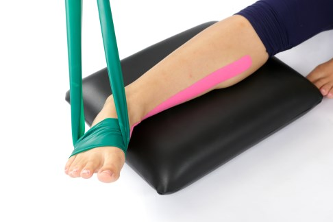 Thera Band exercise strengthening the posterior tibial tendon for instability of the lateral ligament. This and other exercises from the foot and ankle academy can usually compensate